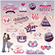 Valentines Label - GraphicRiver Item for Sale