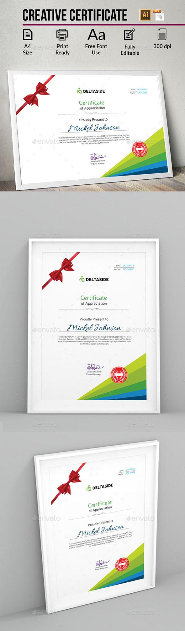 Creative Certificate - Certificates Stationery