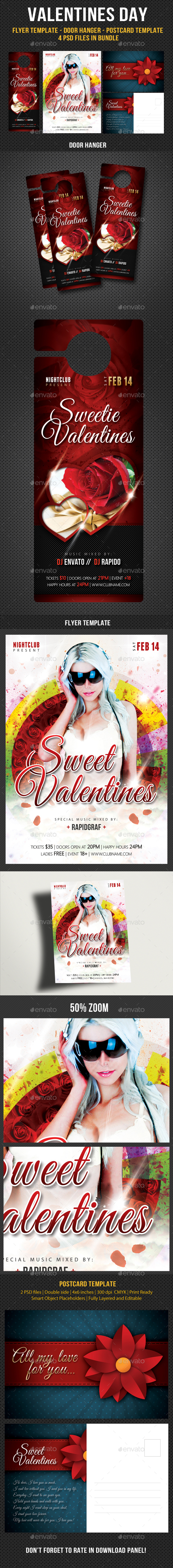 Valentines Day Flyer - Hunger - Postcard Bundle - Events Flyers