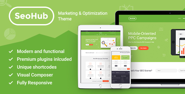 SeoHub – Seo Optimization WordPress Theme