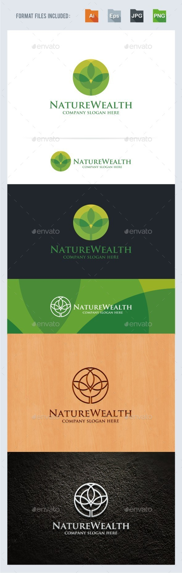 Nature Wealth Logo Template - Nature Logo Templates
