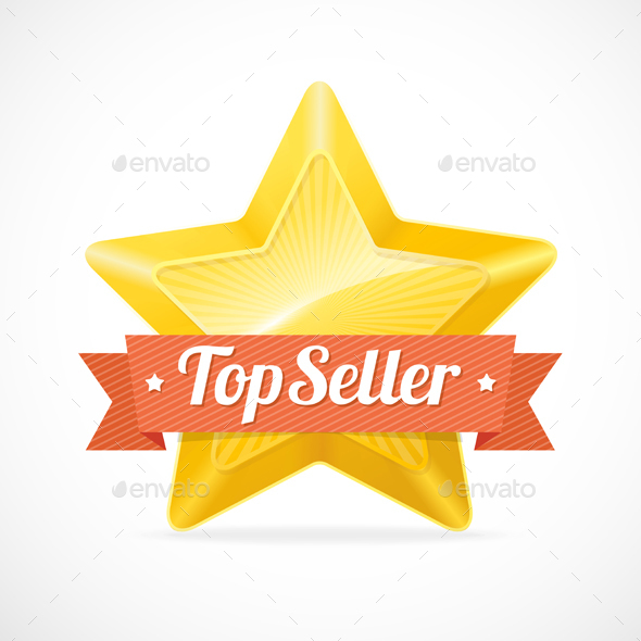 Top Seller Star Label - Retail Commercial / Shopping