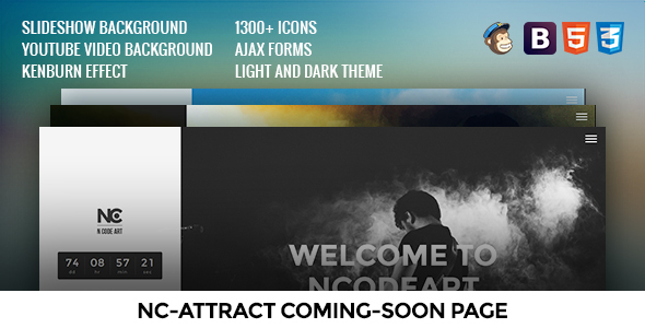 NC-Attract Coming-Soon Page - Under Construction Specialty Pages