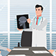 Cartoon Clinic / Man Doctor Shows Head X-ray - VideoHive Item for Sale