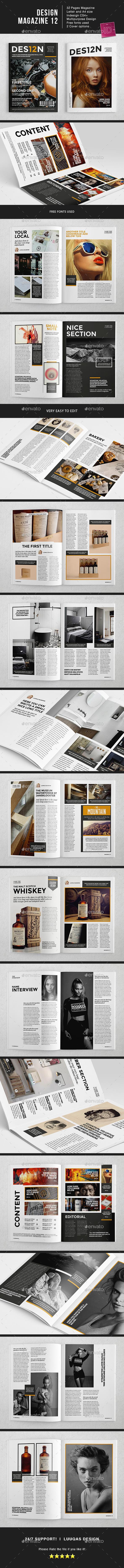 Design Magazine 12 Template - Magazines Print Templates