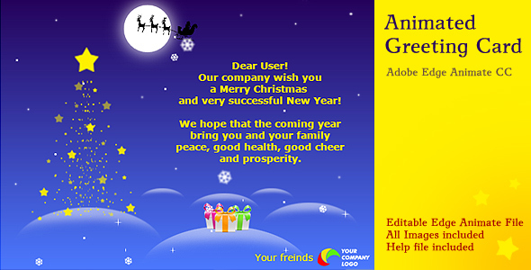 animated christmas card by bionicweblab codecanyon - Animated Christmas Greetings