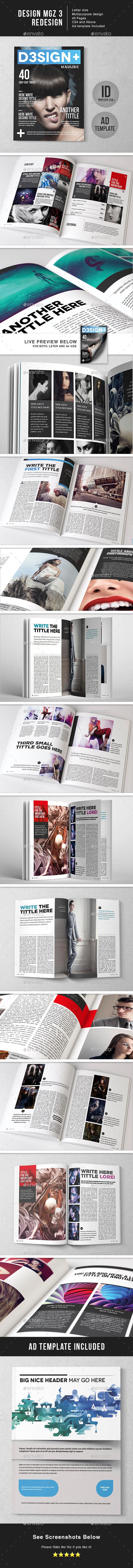 Design Magazine 7 Template - Magazines Print Templates
