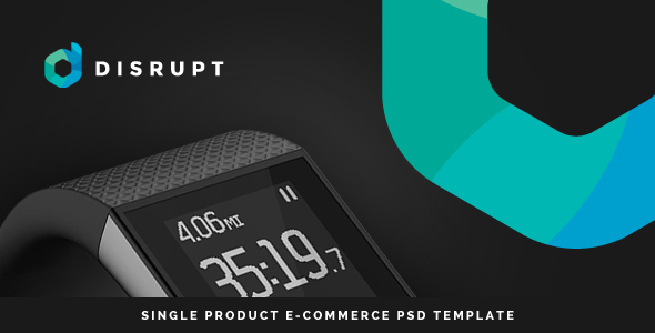 Disrupt - Single Product e-Commerce PSD Template - Technology PSD Templates
