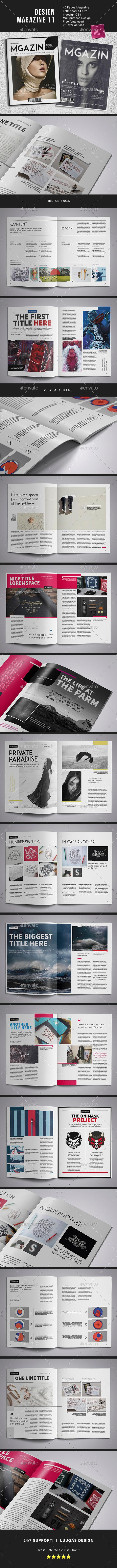 Design Magazine 11 Template - Magazines Print Templates