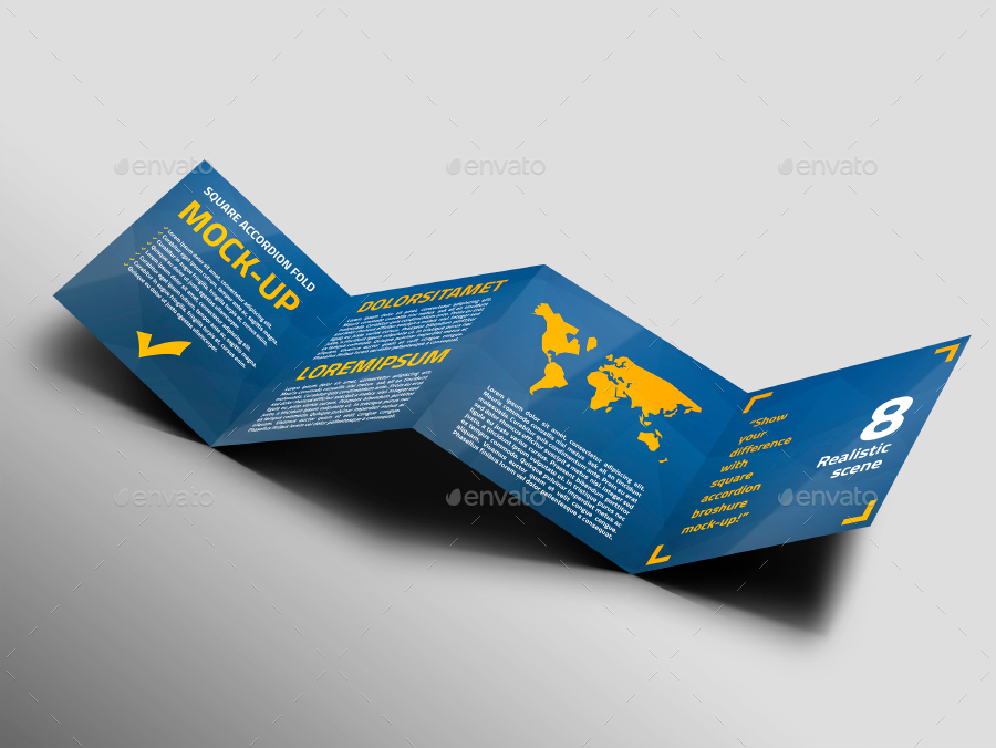square accordion fold brochure mock up by trgyon graphicriver