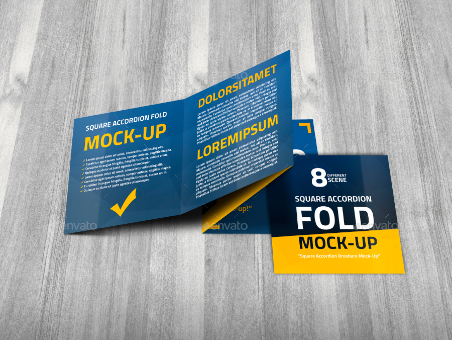 Square accordion fold brochure mock up by trgyon for Accordion fold brochure template