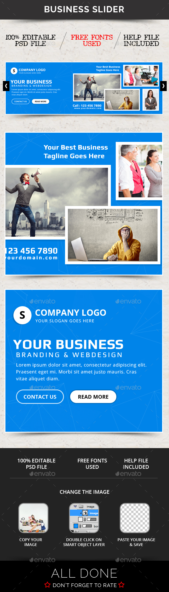 Business Slider V56 - Sliders & Features Web Elements