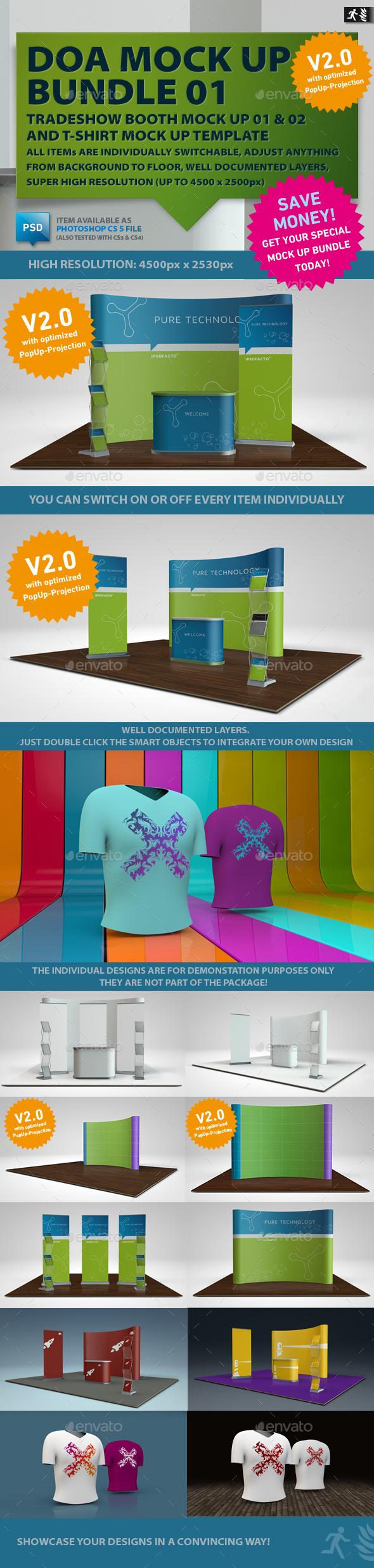 DOA Mock Up Bundle 01 - Miscellaneous Displays