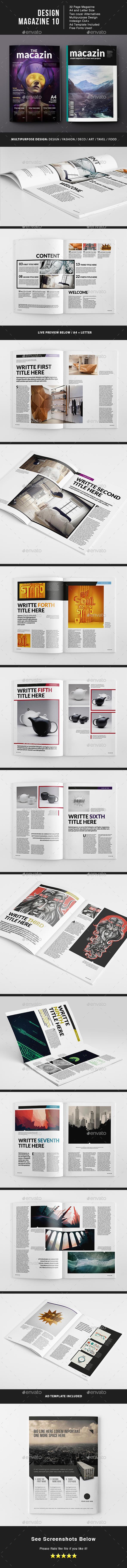 Design Magazine 10 Template - Magazines Print Templates