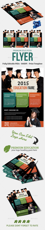 Premium Education Flyer - Flyers Print Templates
