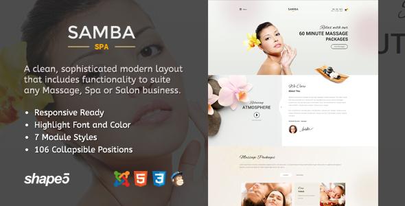 Samba Spa – Responsive Spa Template