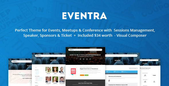 Eventra – Seminar, Meetups & Conferences WordPress Theme