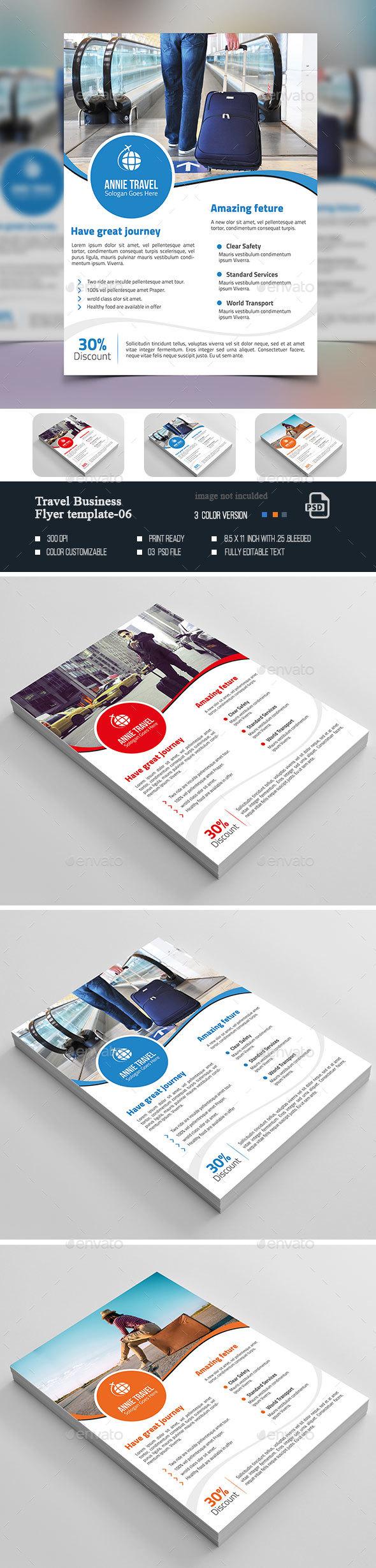 Travel Agency Flyer-06 - Flyers Print Templates