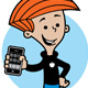 Kid with cell phone - GraphicRiver Item for Sale