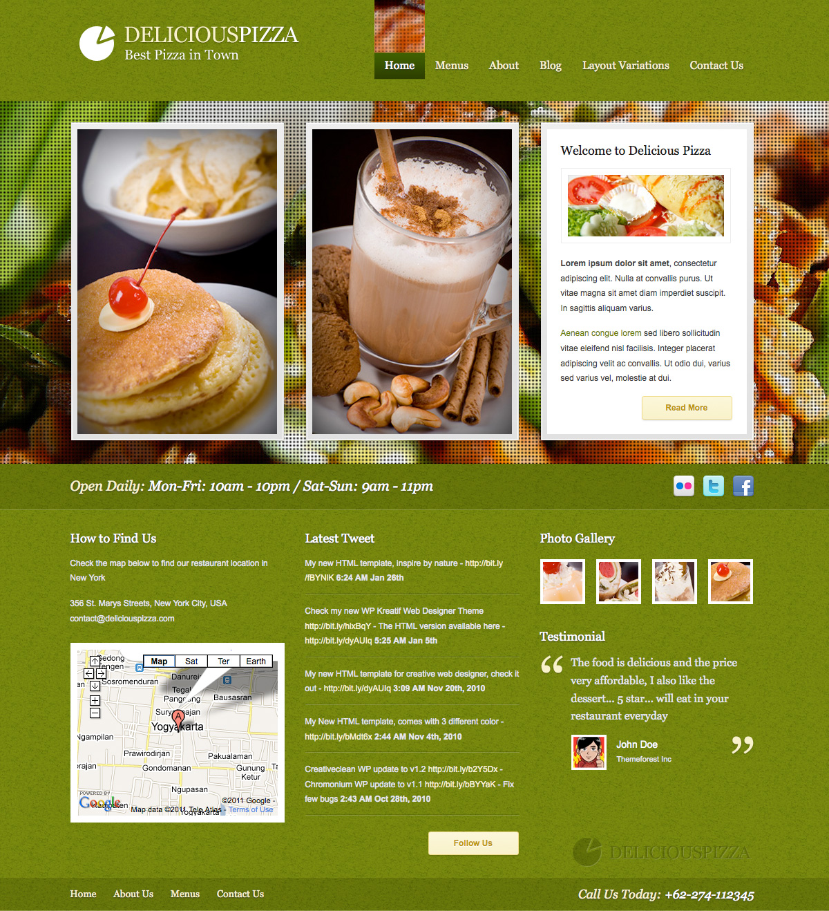 Green Delicious Restaurant Layout by plentong | ThemeForest