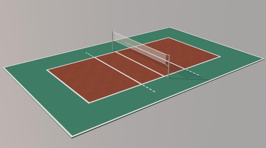 Volleyball Field By Sayisaldusler 3docean