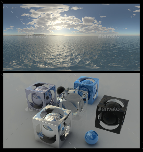 Coastal Clouds 2 - HDRI - 3DOcean Item for Sale