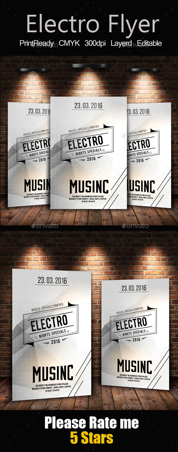 Electro  Music Flyer Templates - Clubs & Parties Events