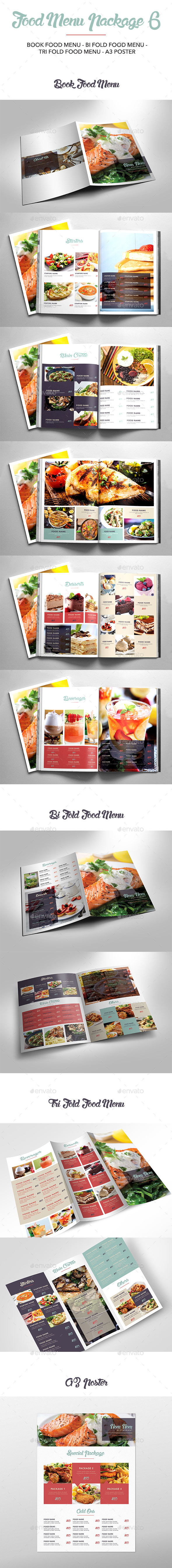 Food Menu Package 6 - Food Menus Print Templates