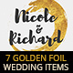 7 Golden Foil Items - Wedding Pack - GraphicRiver Item for Sale