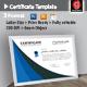 Splash Certificate - GraphicRiver Item for Sale