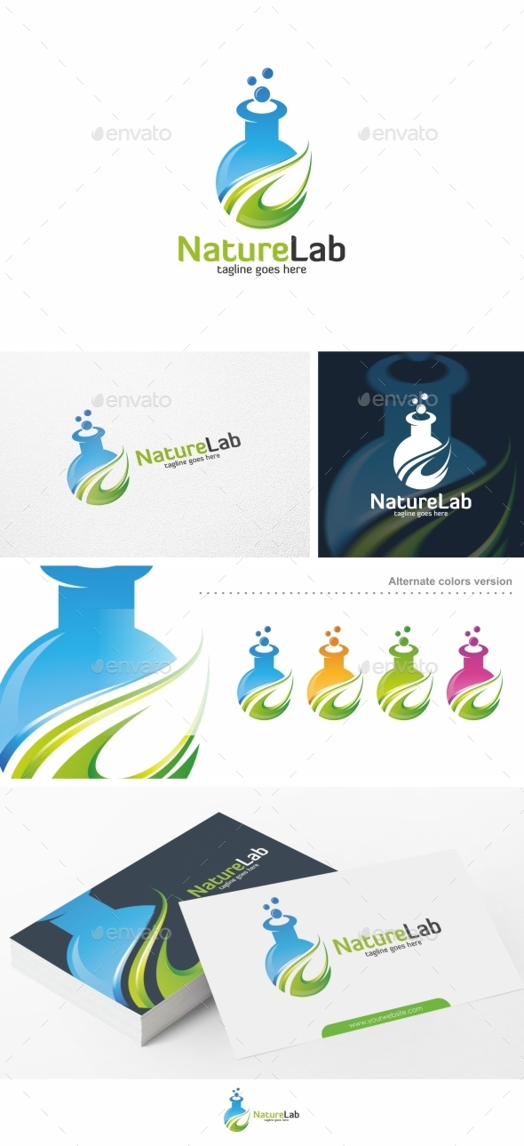 Nature Lab - Logo Template - Nature Logo Templates