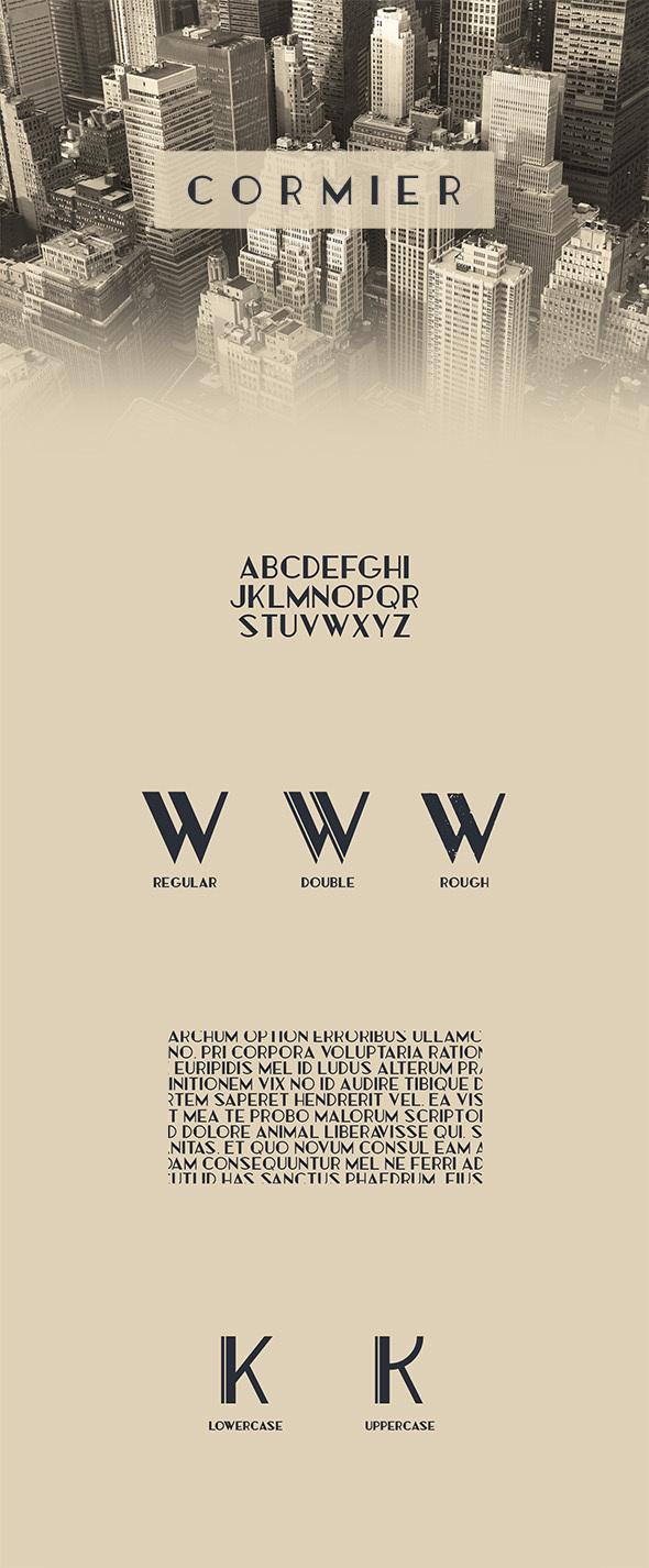 Cormier Typeface - Decorative Fonts