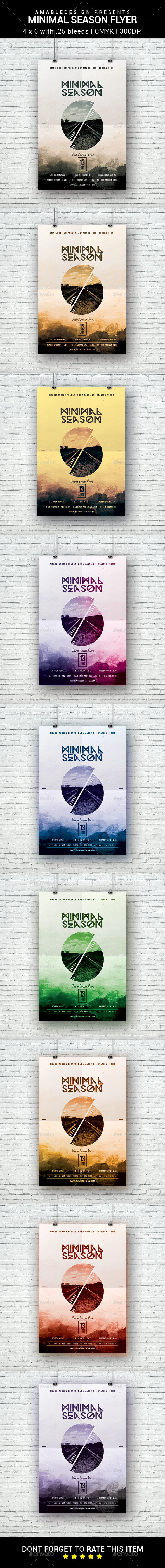 Minimal Season Flyer - Clubs & Parties Events