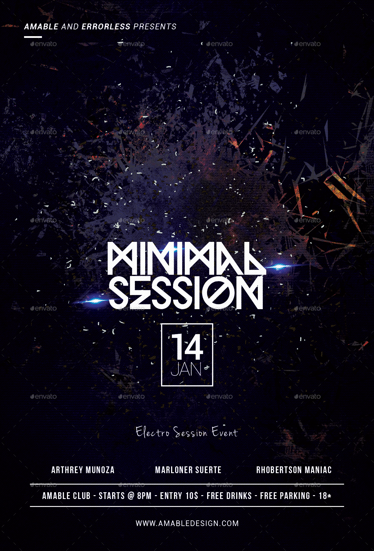 Minimal Session Flyer