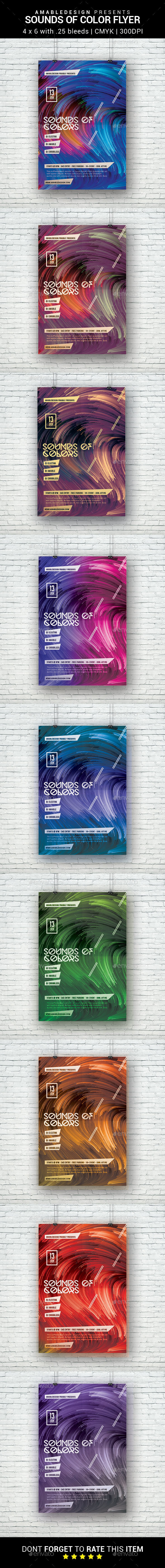Sounds of Color Flyer - Clubs & Parties Events