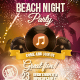 Beach Night Flyer  - GraphicRiver Item for Sale