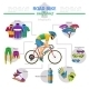 Road Bike Uniforms Vector Infographic - GraphicRiver Item for Sale