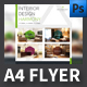 Interior Design A4 Flyer Templates - GraphicRiver Item for Sale