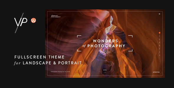 Viewpoint – Fullscreen Photography WordPress Theme