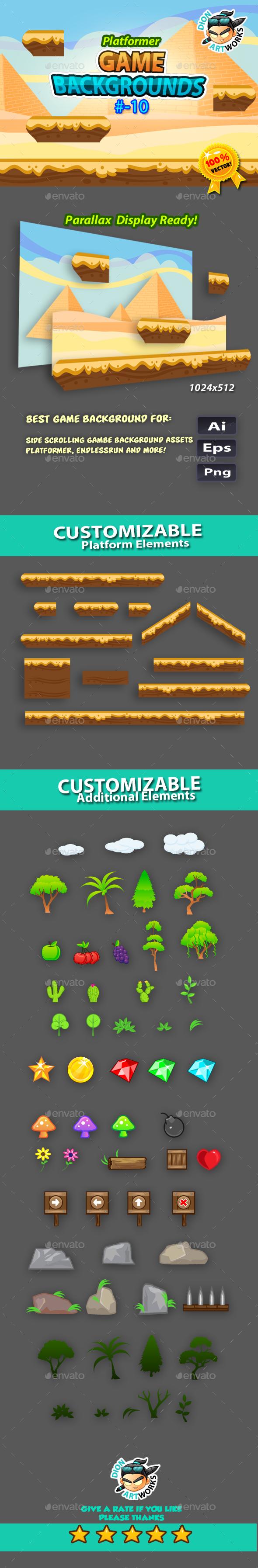 Plaftormer Game Backgrounds10 - Backgrounds Game Assets