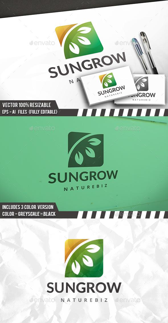 Nature Grow Logo - Nature Logo Templates