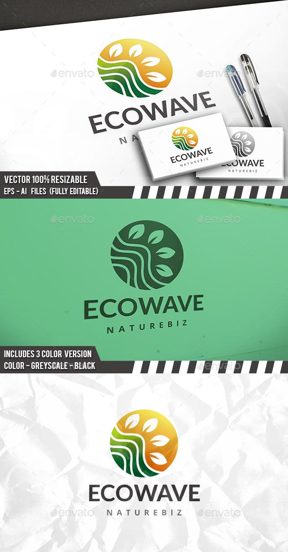 Eco Wave Logo - Nature Logo Templates