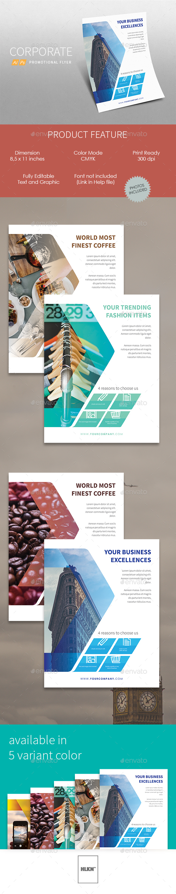 Promotional Corporate Flyer (v.2) - Corporate Flyers