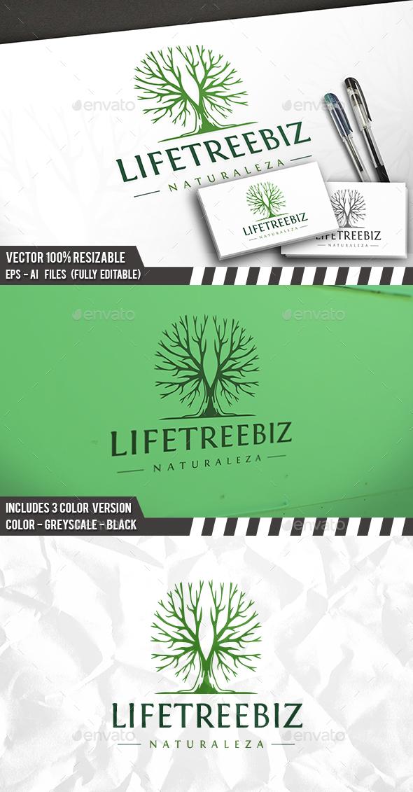 Life Tree Logo - Nature Logo Templates