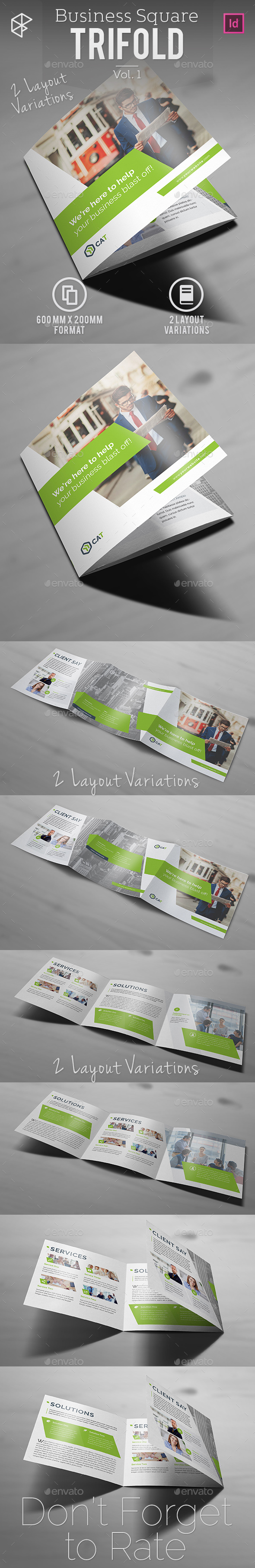 Business Square Trifold Vol. 1 - Corporate Brochures
