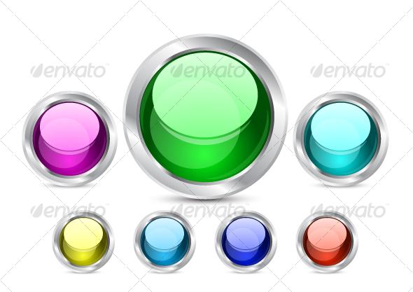 Shiny buttons - Web Icons