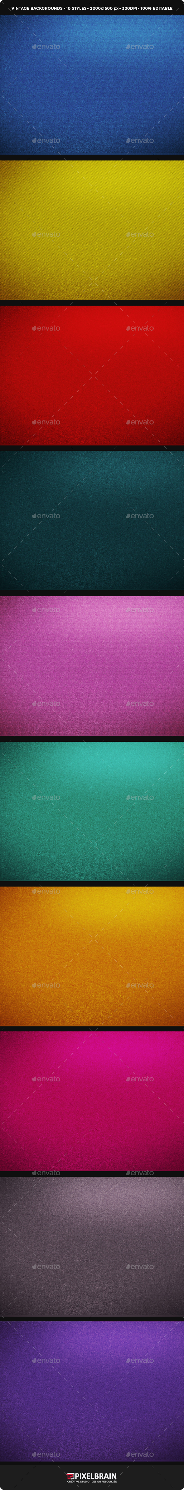 10 Style Vintage Backgrounds Vol. 1 - Backgrounds Graphics