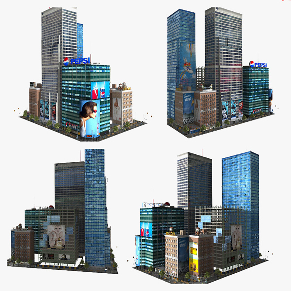 3D Lowpoly City Block - 3DOcean Item for Sale