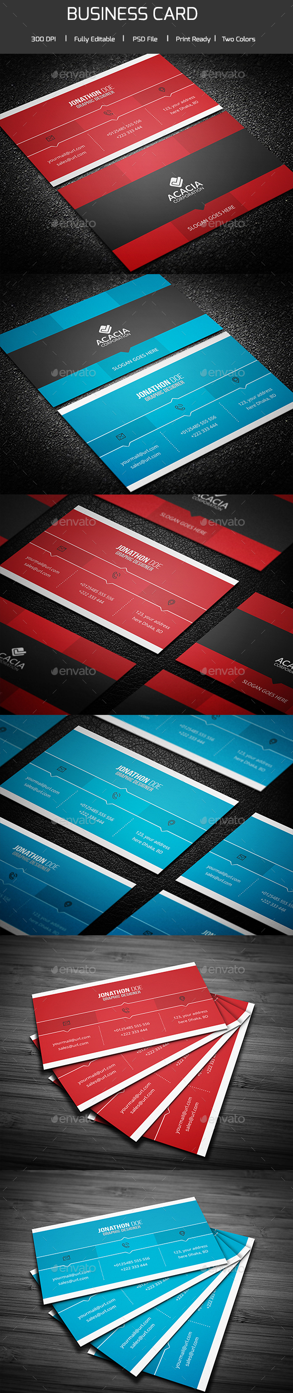 Professional Business Card 02 - Corporate Business Cards
