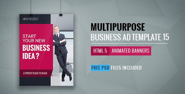Business | HTML5 Google Banner Ad 15  - CodeCanyon Item for Sale
